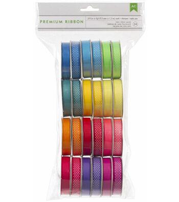 Premium Ribbon 24 Spools Value Pack-Neon