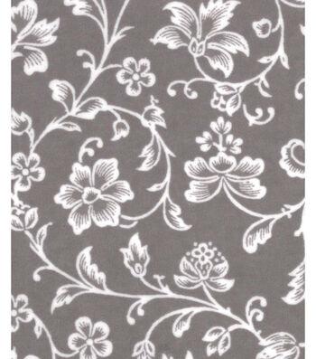 "3 Yard Pre-Cut Snuggle Flannel Fabric 42""-Floral Vines"