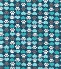 Snuggle Flannel Fabric 42\u0027\u0027-Heart & Paw