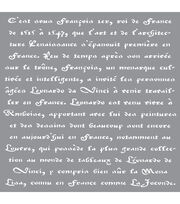 "Americana Decor Stencil 12""X12""-Old French Script, , hi-res"