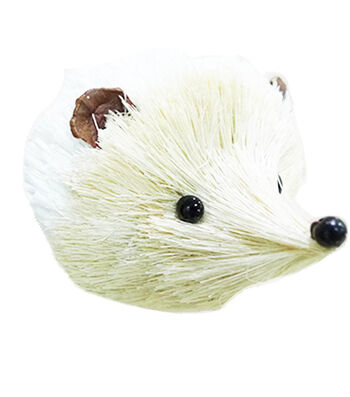 Maker's Holiday Christmas Arctic Frost Sisal Hedgehog Ornament-White