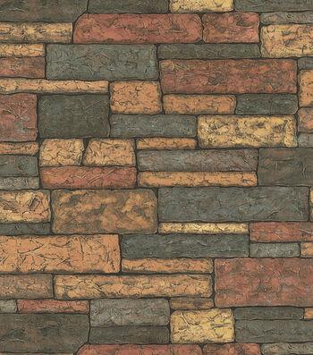 Rust Rustic Brick Wallcovering