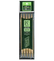 Clover® Takumi 5 Pack No. 15 Bamboo Double Point Knitting Needles, , hi-res