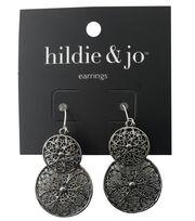 hildie & jo™ Circle Antique Silver Earrings, , hi-res