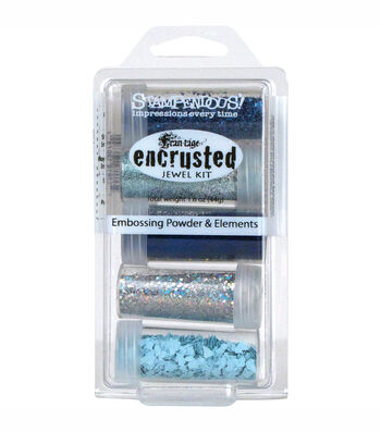 Stampendous Encrusted Jewel Kit-Blue