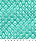 Quilter\u0027s Showcase™ Fabric 44\u0027\u0027-Pool Green Damask