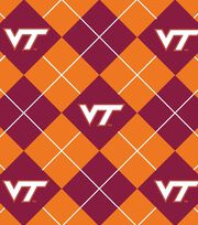 "Virginia Tech Hokies Fleece Fabric 58""-Argyle, , hi-res"