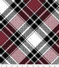 Blizzard Fleece Fabric 59\u0022-Annie Plaid Burgundy