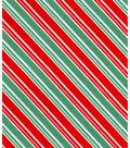 Holiday Showcase™ Christmas Cotton Fabric 43\u0027\u0027-Stripe