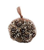 Blooming Holiday Christmas 26 pk Small Pinecone in Mesh Bag with Snow, , hi-res