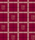 Florida State University Seminoles Flannel Fabric 42\u0022-Plaid