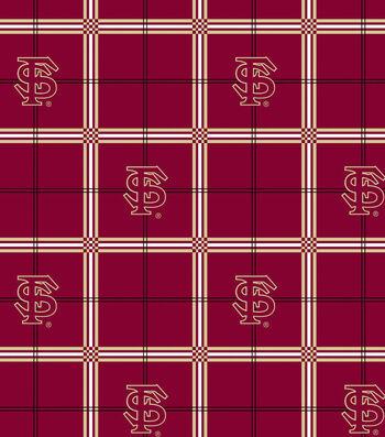 "Florida State University Seminoles Flannel Fabric 42""-Plaid"