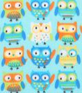 Blizzard Fleece Fabric 59\u0022-Adorable Owls