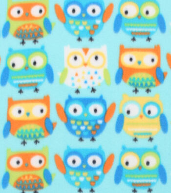 "Blizzard Fleece Fabric 59""-Adorable Owls"