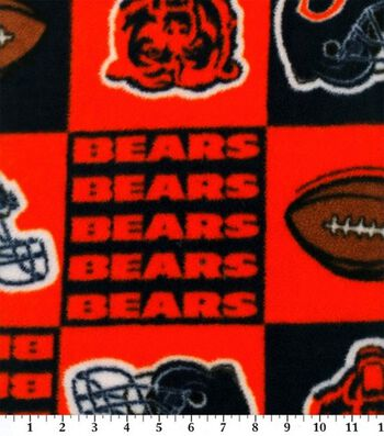 "Chicago Bears Fleece Fabric 58""-Block"