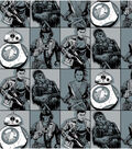 Star Wars VII Villains In Squares Flannel Fabric