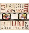 Live Laugh Love Film Strip Post Bound Scrapbook 12\u0022X12\u0022-
