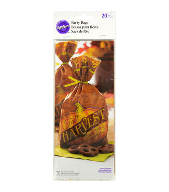 """Wilton® Party Bags 4""""X9.5"""" 20/Pkg-Harvest"""