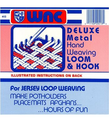 Deluxe Metal Hand Weaving Loom & Hook
