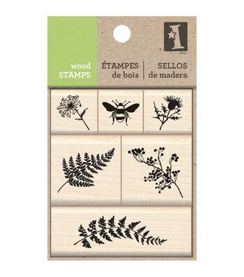 Inkadinkado Wood Stamp Set -Meadow