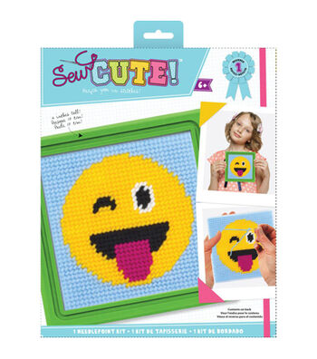 Sew Cute! Needlepoint Kit-Emoji Tongue