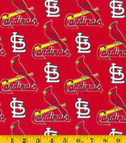St. Louis Cardinals Cotton Fabric 58''-Tossed Print, , hi-res
