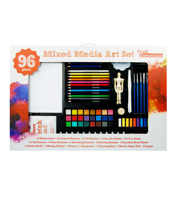 Craft Essentials 96-Piece Mixed Media Art Set