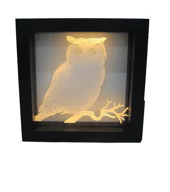 Maker's Halloween LED Plastic Word Block-Owl