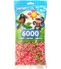 Perler Beads 6,000 Count-Floral Mix