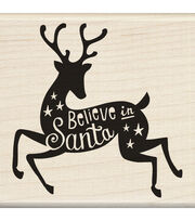 Inkadinkado® Mounted Rubber Stamp-Believe In Santa, , hi-res