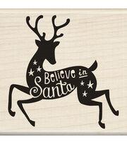 Inkadinkado® Mounted Rubber Stamp-Believe In Santa, , hi-res