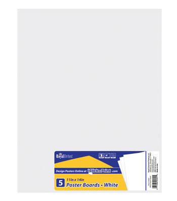 """Royal Lace-Posterboard 11""""X14"""" 5/Pkg-White-Gridded"""