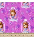 Disney®Junior Cotton Fabric 43\u0022-Sofia and Friends