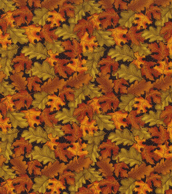 "Autumn Inspirations™ Cotton Fabric 43""-Tossed Leaves"