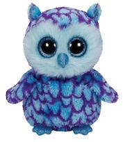 TY Beanie Boo Oscar Blue Purple Owl, , hi-res