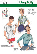 Simplicity Pattern 1278H5 6-8-10-12--Misses Top / Vest