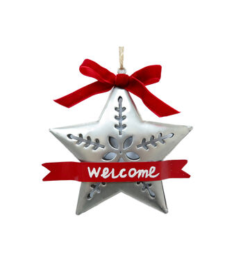 Maker's Holiday Christmas Galvanized Metal Star Ornament