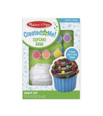 Melissa & Doug Decorate-Your-Own Bank Kit-Cupcake