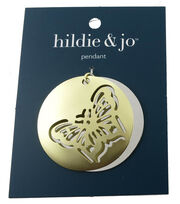 hildie & jo™ 1.88x1.88'' Butterfly Gold & Silver Pendant, , hi-res