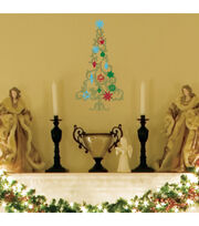 Peel And Stick Holiday Tree Wall Decor, , hi-res