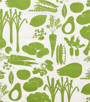 "Alexander Henry Cotton Fabric 44""-Farmers Market Green, , hi-res"