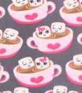 Blizzard Fleece Fabric 59\u0022-Happy Hot Cocoa