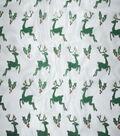 Sew Sweet Foil Organza Fabric 58\u0022-Reindeer