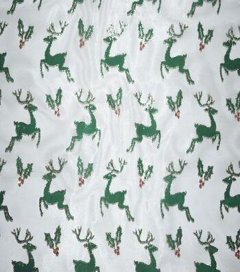 "Sew Sweet Foil Organza Fabric 58""-Reindeer"