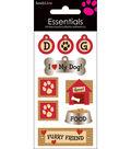 Essentials Dimensional Stickers 2.25\u0022X5\u0022 Sheet-I Love My Dog