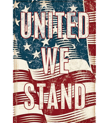 Porch Décor Fabric Flag 12''x18''-United We Stand