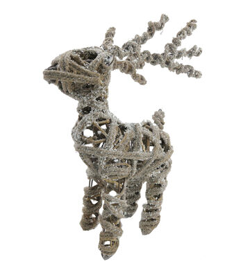 Blooming Holiday Standing Reindeer-Frosted