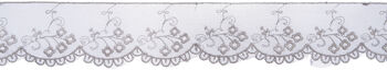 Wrights® Embroidered Scalloped Mesh Lace Trim 2''x10 yds-Light Gray