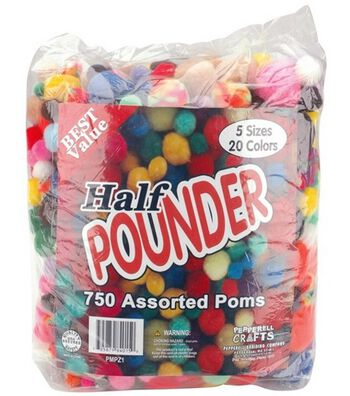 Half Pounder Bag Of Pom Poms