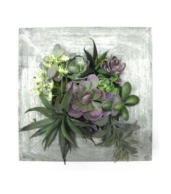 Bloom Room Succulent Wall piece-Green & Purple
